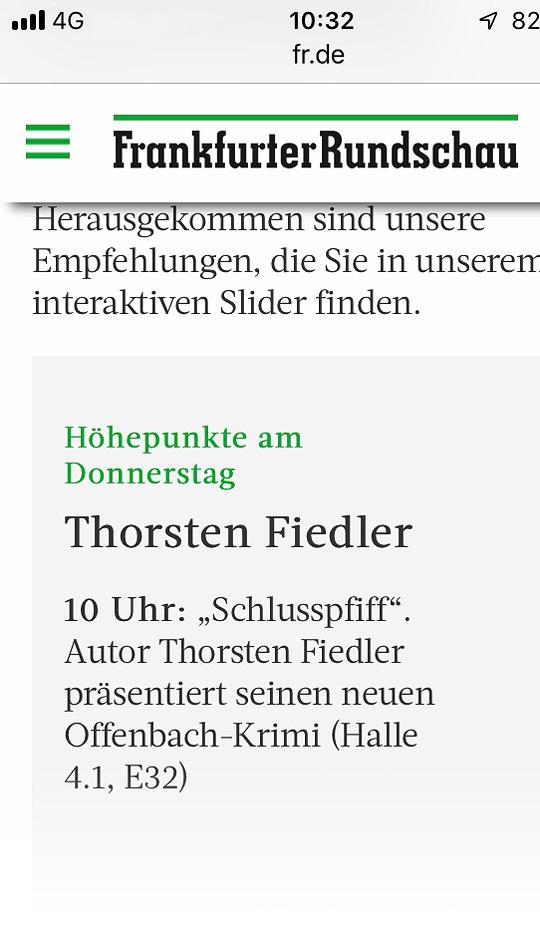 Thorsten Fiedler | PR Bericht Frankfurter Rundschau