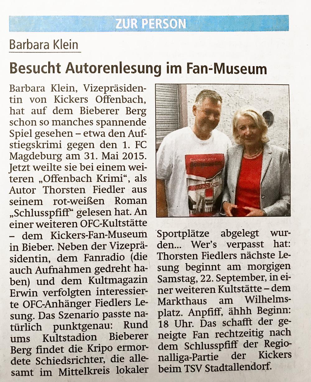 Thorsten Fiedler | Offenbach-Post vom 21.09.2018
