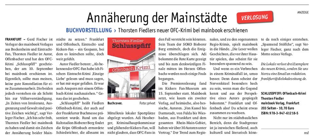 Thorsten Fiedler | PR Bericht die Lokale