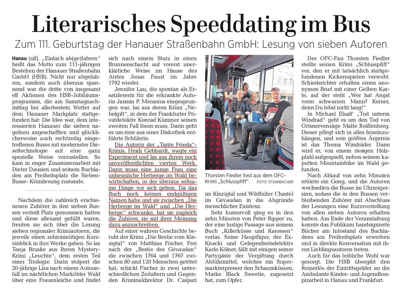 Bus-Lesung groß im Börsenblatt